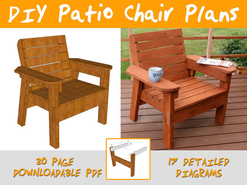 wooden patio chairs plans small