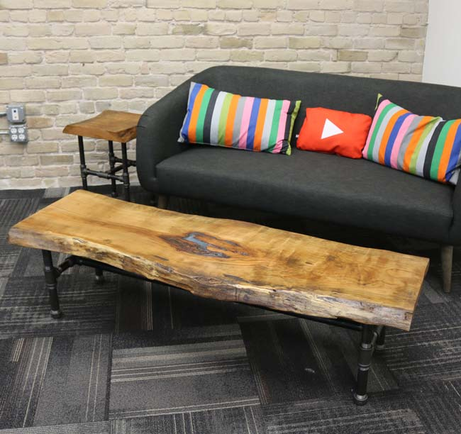 cherry slab coffee table diy projects