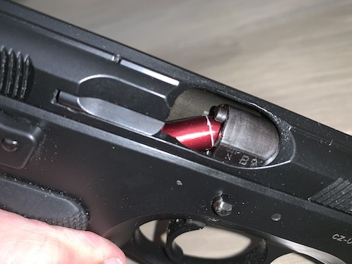 Pistol jam failure to feed