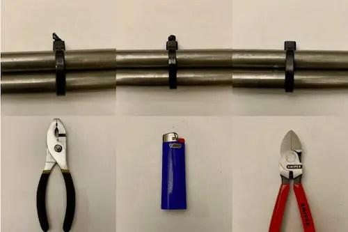 How to eliminate sharp edges on zip ties