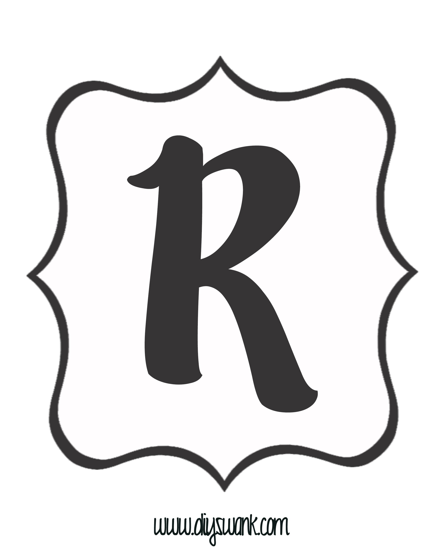 White And Black Letter R