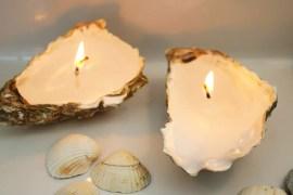 diy: ljus i ostronskal