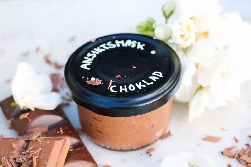 Choklad ansiktsmask