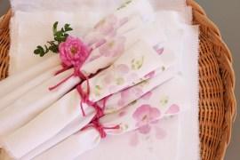 Diy: Blommiga tygservetter