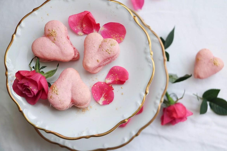 Macarons hjärtan