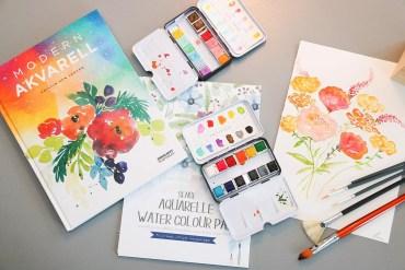 Akvarellmålning - blommor