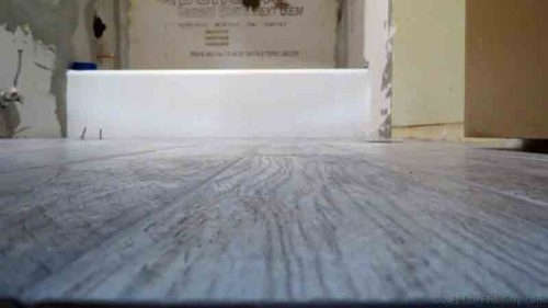 More Tips For Installing Wood Look Tile Flooring Diytileguy | Wood Grain Tile On Stairs | Natural Wood | Contemporary | Basement | Upstairs | Subway Tile