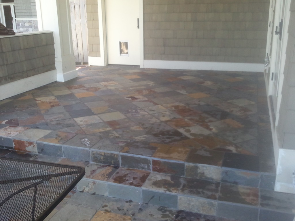 exterior tile installation over