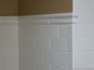 how to tile around a corner wall