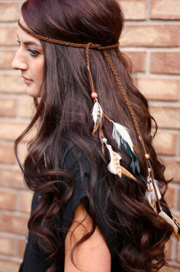 25 DIY Feather Jewelry Design DIY To Make