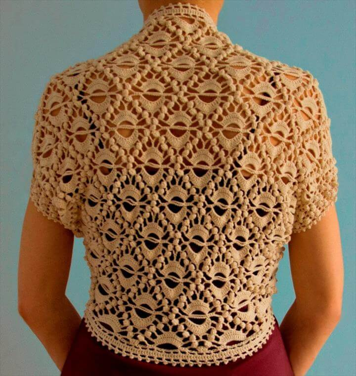 Knit And Crochet Bolero Pattern