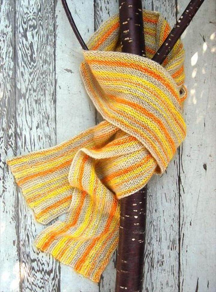 Scarves Knitting Patterns Yarn