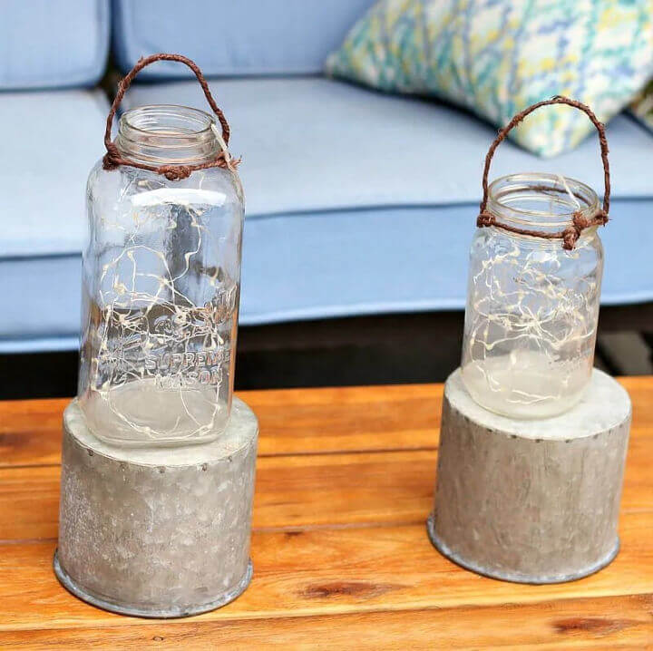 Using a shepherd's hook gives you more options for where you can place the lights. 30 Diy Mason Jar Lights Ideas To Make At Home