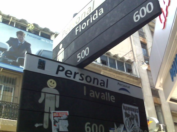 Calle Florida and Lavalle in Buenos Aires