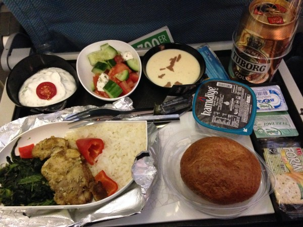 Meals onboard Turkish Airlines