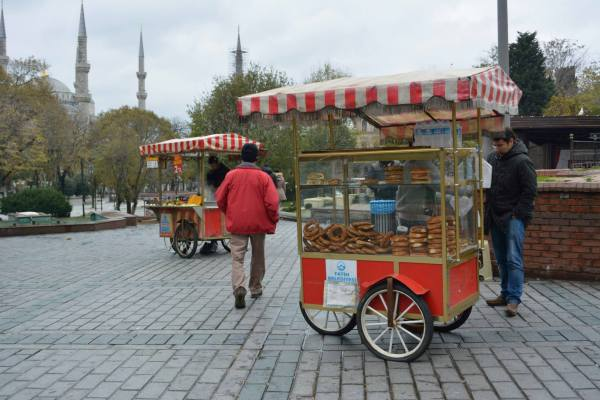 Simit Vendors on the Street