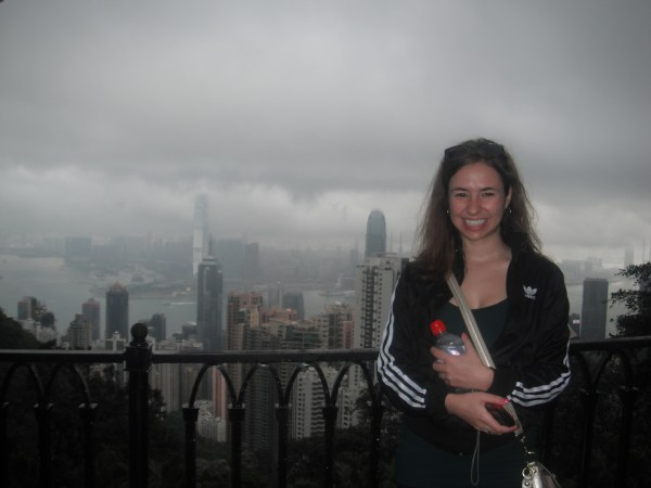 Co-Host Heather Neary overlooking Victoria Peak