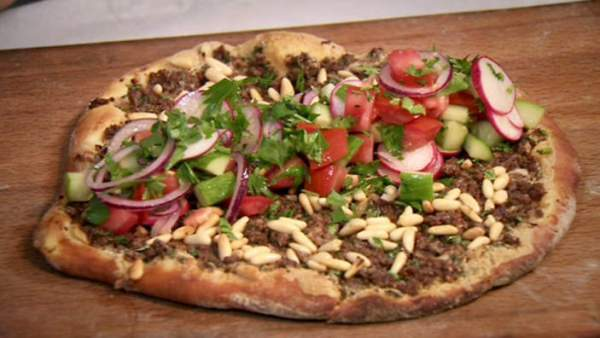 Lahmacun, oval-shaped flatbread topped with spicy lamb or beef mince is Turkey's take on pizza