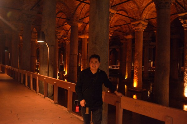 Charles inside the underground Basilica Cistern