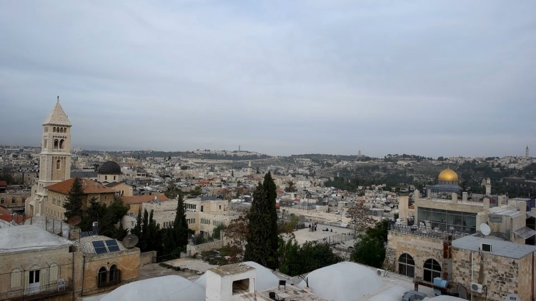360 View of Jerusalem from Rooftop Patio