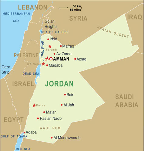 Maps of Jordan