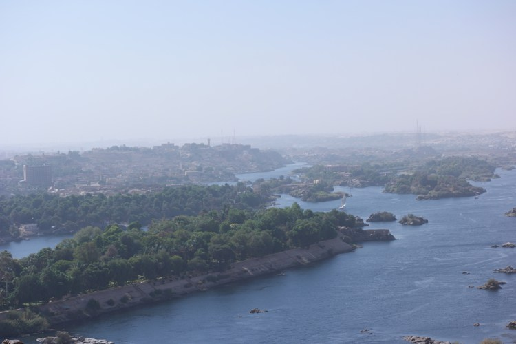 View of Aswan from the Tomb of the Nobles on the West Bank