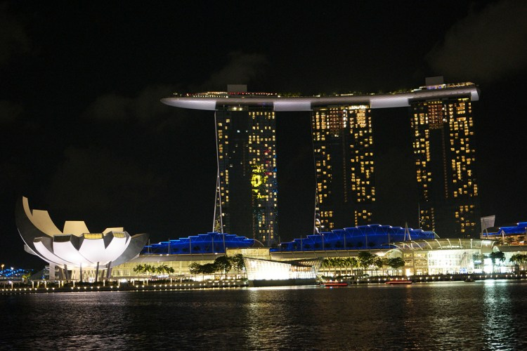 View of Marina Bay Sands from Clifford Pier