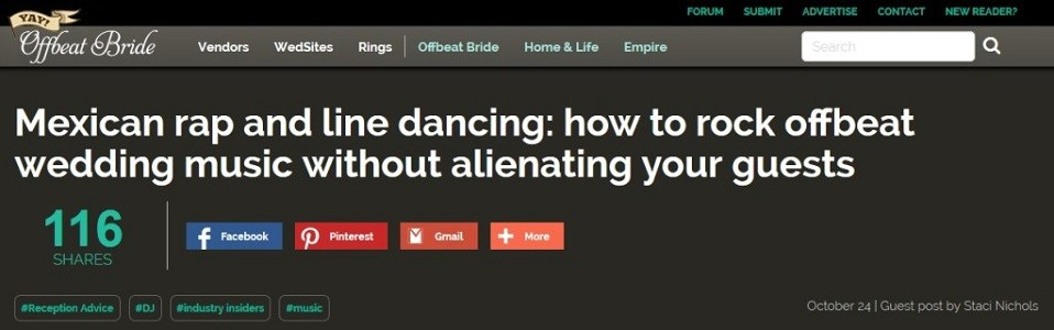 DIY Wedding DJ - Offbeat Bride