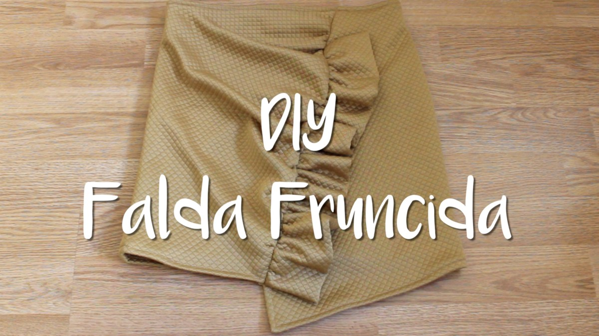 DIY - Falda con Volante Fruncido - Skirt with a gathered frill