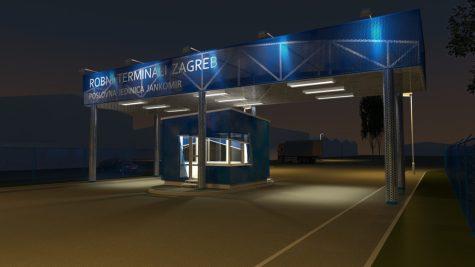 Robni terminali noću