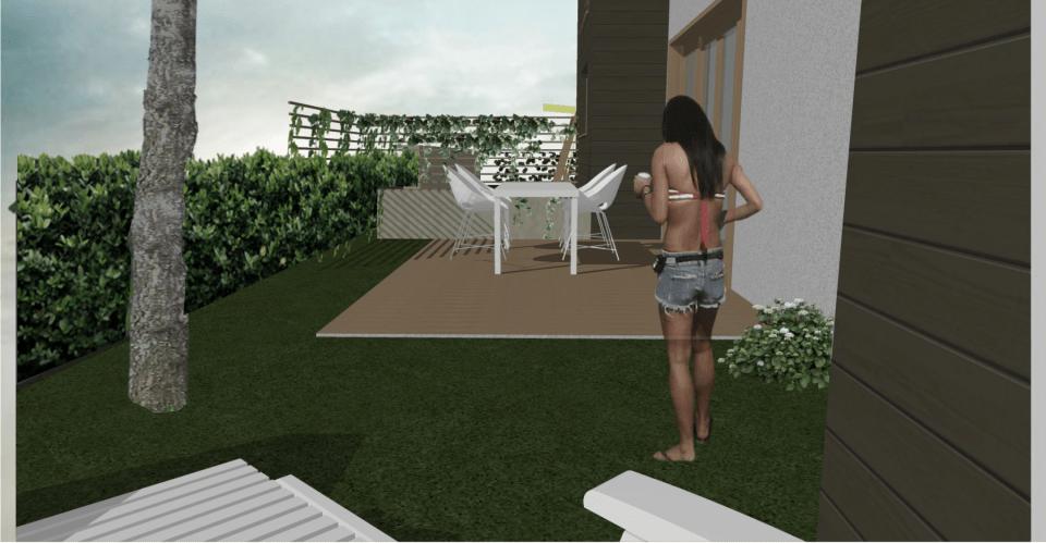 Vrt kuće u nizu