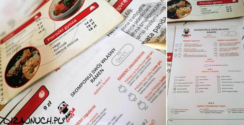 PanDa Ramen - menu