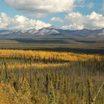 Ogilvie River valley and mountains, Yukon