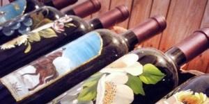Bottiglie di vino artistiche