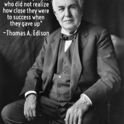 Thomas Edison Success Quote