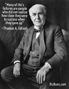 Thomas Edison Success Quote