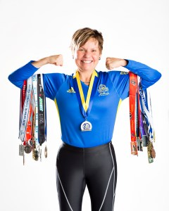 Margaret Webb and Her Running Medals
