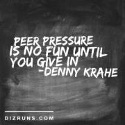 Peer Pressure for Runners