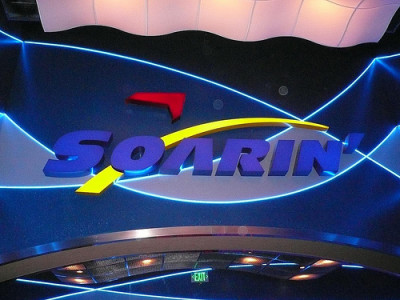 Riding Soarin During the 2015 Wine and Dine Half Marathon