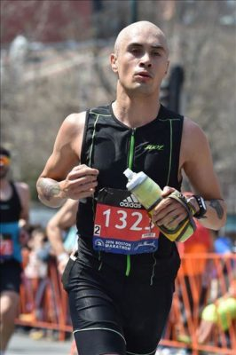 Michael Deza at the 2016 Boston Marathon