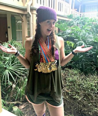 Nicole Handler, Rocking the Dopey Hat and Medals