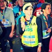 Angela Barraco Running with Team for Kids
