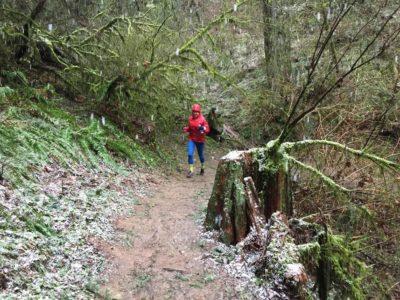 Angela Modzelewskin on the Trails