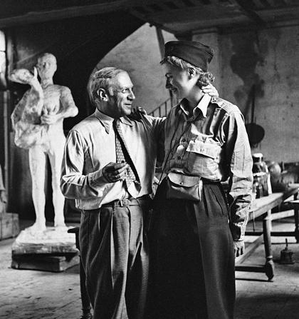 Pablo Picasso og Lee Miller efter krigen 1945