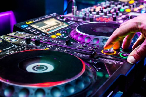DJ Playing The Tracks