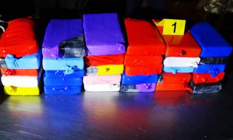 صورة إحباط محاولة إدخال أزيد من 490 كلغ من الكوكايين بوهران