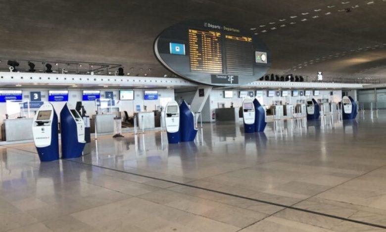 صورة مخبر تحاليل للكشف عن فيروس كورونا بمطار شارل ديغول