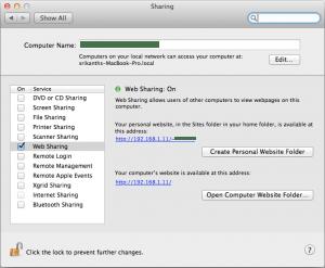 Start Apache Mac OS X