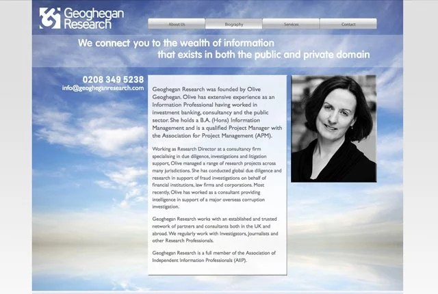 website Geoghegan Research