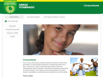 Arroz Vitaminado - WordPress website design in Brazil